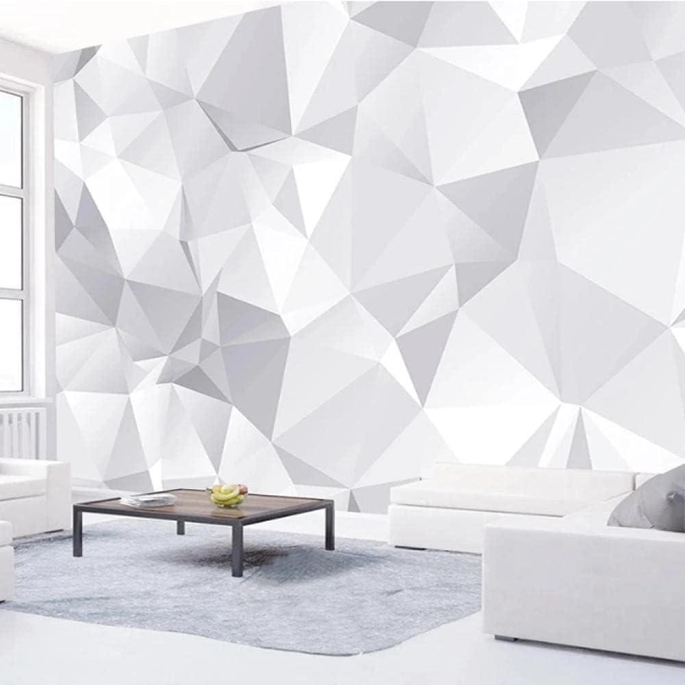 Custom Long Beach Mall 3D Wall Murals 55% OFF Wallpaper Livi Modern Geometric Grey White