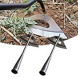 1/2 piezas de acero endurecido azada hueca herramienta para aflojar el suelo,...