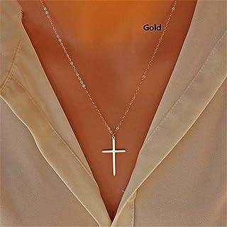 BOBIJOO Jewelry Collar Colgante Cruz de Caravaca de la Cruz de 32 mm de Acero Chapado en Oro Cadena de Oro