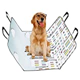 JTMOVING Fashion Oxford Pet Car Seat Residential Building Color Art Waterproof Nonslip Canine Pet Dog Bed Hammock Convertible for Cars Trucks SUV