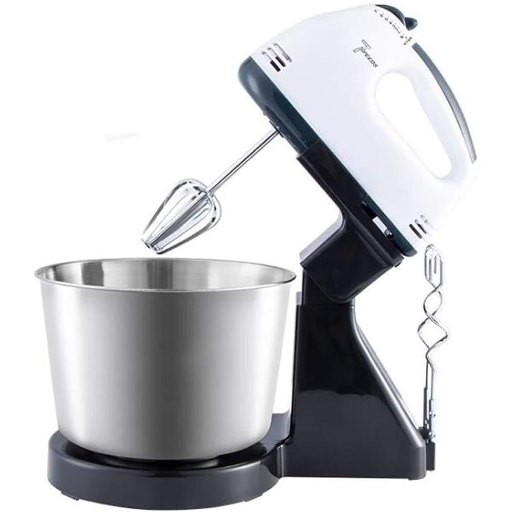 YLEI Batidora Amasadora Robot Cocina Batidora de Varillas con Bol de 2 litros, 200 W, 7 Velocidades, Incluye 2 Ganchos de Amasado y 2 batidores, Función Turbo: Amazon.es: Deportes y aire libre