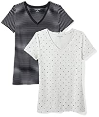 A wardrobe must-have, this pack of two V-neck tees features a comfortable cotton blend and a straight hem for easy, everyday wear Everyday made better: we listen to customer feedback and fine-tune every detail to ensure quality, fit, and comfort Mode...