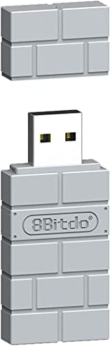 8Bitdo Wireless Controller Bluetooth Adapter for Switch, Windows, Mac, & Raspberry Pi (Gray)