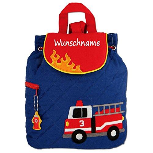 Elefantasie Rucksack Kindergartentasche mit Namen Bedruckt Motiv Feuerwehr