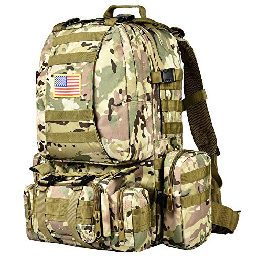 NOOLA Tactical Military Rucksack Survival Army Rucksack Assault Pack Molle Bag, Multicam Cp, Large