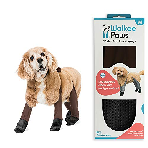 Walkee Paws Waterproof Dog Leggings - Keep Your Dog's' Clean & Dry Without The Hassle of Boots - Cocoa Color (Medium)