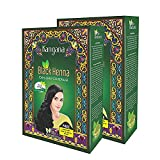 Kangana Black Henna Powder for 100% Grey Coverage | Natural Black Henna Powder for Hair Dye / Color | Naturals Henna Hair Color - 6 Pouches Inside- Total 60g (2.11 Oz) - Pack of 2