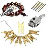 RollingBronze Wooden Bead Maker Beads Drill Bit 14-25mm Carbide Router Bit Ball Blade Milling Cutter Set 16pcs Woodworking Tool Kit