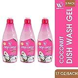 WBM LLC 6751D-3PK WBM Home Liquid Dish Soap Gift Set,Dishwasher Detergent,Coconut,(3 Pack)