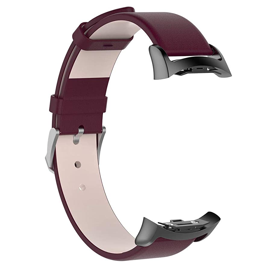 Junshion Genuine Leather Watch Band Straps for Samsung Gear S2 SM-R720 / SM-R730 with Adapter