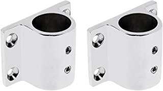 D DOLITY 2pcs Boat Hand Rail Fittings 90 Degree Stanchion Rectangle Base for 25mm Tubing, Marine Deck Hardware, 316 Stainless Steel (Silver)