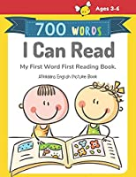 700 Words I Can Read My First Word First Reading Book. Afrikaans English Picture Book: Full-color childrens books to read basic vocabulary cartoons word step by step for beginners reader level, boys and girls ages 3-6