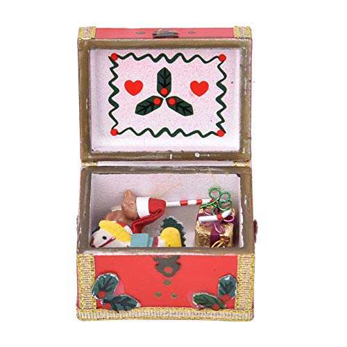 YOUTHINK 1:12 Mini Casa de muñecas Decoración Muebles Bolsillo Caja de Tesoros navideños Escena en Miniatura Adecuado para...
