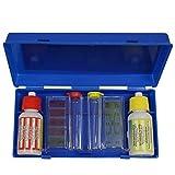 Linxor France ® Trousse d'analyse liquide pour ph, chlore et brome - Norme CE
