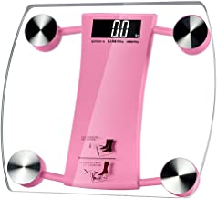 NYDZDM Ultra Slim Digital Bathroom Scales with High Precision Sensors and Tempered Glass (Color : Pink)