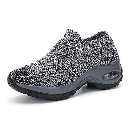 H/A Zapatillas de deporte para mujer, para primavera y verano, ligeras, cómodas y transpirables, para el tiempo libre, el tiempo libre, el jardín, el día a día, el fitness, el yoga., caqui, 37 EU
