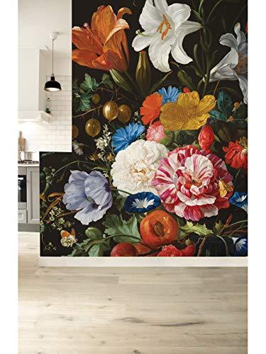 KEK Amsterdam Golden Age Flowers VI, 8-delig fotobehang - multicolor (280cm x 389,6cm)