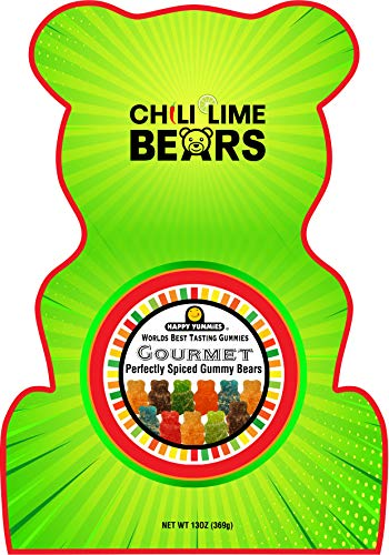 Happy Yummies Worlds Best Tasting Gourmet Gummies Chili Lime Bears 13oz