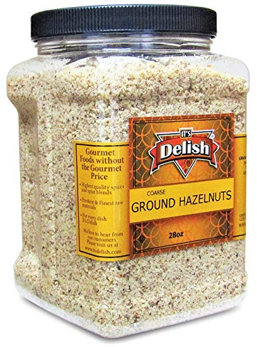 Gourmet Ground Hazelnuts by Its Delish – 28 Oz Jumbo Container – Natural Pure Hazelnut Meal– Protein-Packed Healthy Cooking, Baking, Flavoring & Recipe Decor