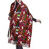 Navidad Rojo Muñeco de nieve Árboles Bastones de caramelo Medias Regalos Coronas Estrellas Flores y mitones Collage Chal Envoltura