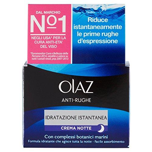 Olaz - Anti-Rughe, Idratazione Istantanea, Crema Notte, Et 30+, 50 ml