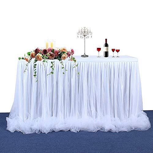 Daiiwwo Tabelle Tüllrock, Handgefertigte Tutu Table Rock Geschirr Tabelle Tuch Romantisch Für Party, Hochzeit, Geburtstag Party & Home Dekoration, 183 X 78 cm / 72 X 31 Zoll