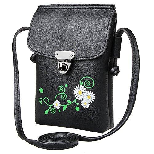 Xidan Stilvoll Einzel Schultertasche Handtasche aus PU Leder für iPhone 6 7 8 Plus X, Samsung Note2 3 4 5 8, S5 S6 S7 Edge S8 S9 Plus, LG G3 G4 G5