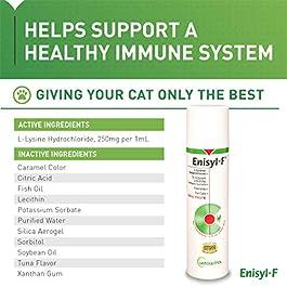 Vetoquinol Enisyl-F Oral Paste: L-Lysine Supplement for Cats – Tuna Flavor, 3.4oz (100mL) Pump