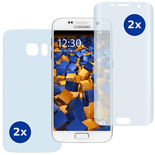 mumbi 3D Schutzfolie kompatibel mit Samsung Galaxy S7 Folie, Displayschutzfolie (4X)