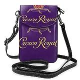 Sac à bandoulière pour téléphone Portable Crown Royal Women Sac à Main Multicolore en Cuir PU avec Sangle réglable
