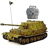 HOOBEN RTR RC Tanks German Full Set 1/16 Elefant Jagdpanzer Ferdinand Radio Control Full Function(Ready to Run, Assembled &Camouflag Painted) with Metal Gearbox,Sprocket,Idler,Metal Suspension D6614F