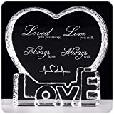 YWHL Valentines Gift Anniversary Sculpture - Crystal Couple Gift for Him Husband Boyfriend Her Wife Girlfriend Valentine's Day