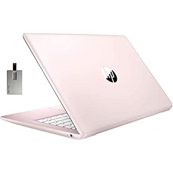 "2020 HP Stream 14"" HD SVA Laptop Computer, Intel Celeron N4000 Processor, 4GB RAM, 64GB eMMC flash memory, Intel UHD Graphics 600, 1-Year Office, Bluetooth, Win 10S, Rose Pink, 128GB SnowBell USB Card"