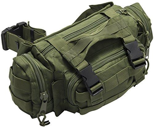 Nitehawk Army/Military MOLLE Waist Assault/Combat Pack Bum Bag, Olive Green