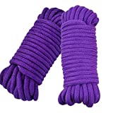 SWISH Soft Cotton Rope-32 Feet Length/10m,64-Foot 20m Durable Utility Long Rope