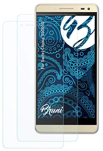 Bruni Schutzfolie kompatibel mit Switel Champ S5003D Folie, glasklare Bildschirmschutzfolie (2X)