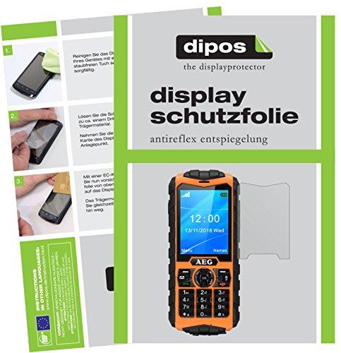 dipos I 2X Schutzfolie matt kompatibel mit AEG M550 Folie Bildschirmschutzfolie