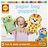 ALEX Toys Paper Bag Puppets Kids Art and Craft Activity Multicolor (Toy)
