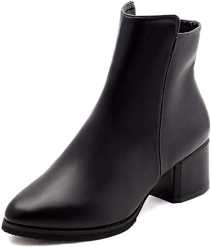 HBDLH Chaussures pour Femmes Rude Talon 5 Cm La Hauteur Hauteur du Talon Martin Bottes Velveted Bottes  haute qualité générale