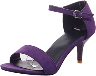 MisaKinsa Women Fashion Thin Heel Sandals Buckle