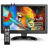 Eyoyo - Monitor IPS 13,3 pollici, 1920 x 1080, 16: 9, schermo LCD per PC portatile, sistema di videosorveglianza di sicurezza a casa con altoparlanti (13 pollici 1920 x 1080)