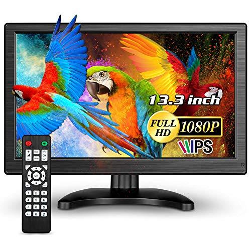 Eyoyo IPS-Monitor, 13,3 Zoll, 1920 x 1080, 16: 9, LCD-Display, für PC, Laptop, Sicherheitssystem für zu Hause mit Lautsprechern (13 Zoll, 1920 x 1080)