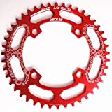SWEETQT / Compatibile 104Bcd 40/42/44/46/48/50/52 T Mountain Bike Chainwheel MTB Guarnitura Bici Alluminio Stretta Corona Larga Bcd 104