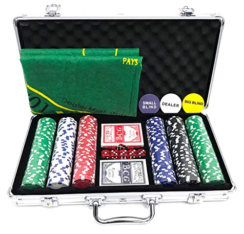 Maleta Poker 300 Fichas Oficiais S/ Numeração Kit Completo