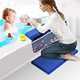 Gogokids Baby Bath Kneeler with Elbow Rest Bathtub - 1.5' Thick Baby Bath Pad Bath Cushion Child Kneeling Mat Kids Tub Pad (Detachable and Foldable)