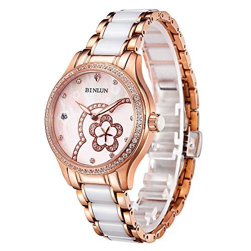 腕時計 レディース ファッション BINLUN スタンダード 機械式 自動巻き 防水 オリジナル デザイン 女性 ウォッチ 母の日ギフト [並行輸入品]