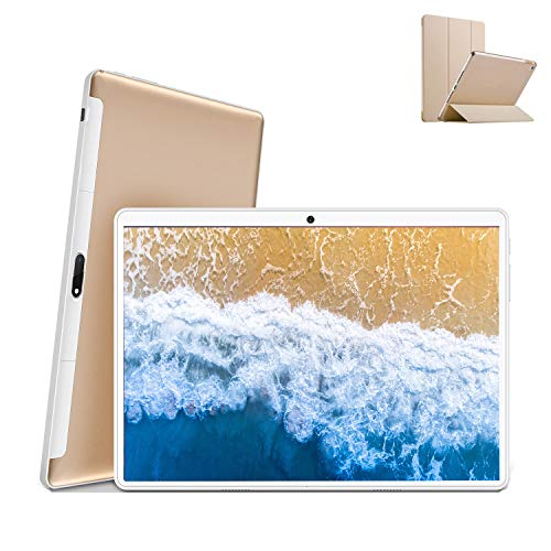 Tablet 10 inch met wifi-aanbieding 4G Android 9.0 gecertificeerd Google GMS Tablet PC 4 GB RAM 64 GB/128 GB uitbreidbaar 8500mAh Tablet in aanbod Dual SIM 8 MP camera tablet Android Bluetooth OTG (goud)