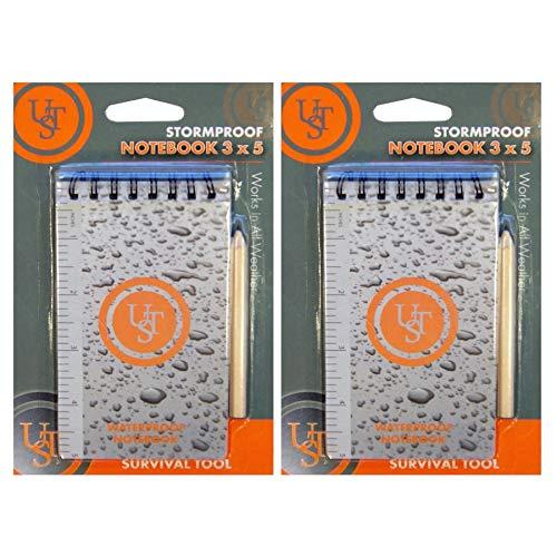 Ust Brands Ultimate Survival Technologies Waterproof Notebook 3x5 Tearproof Notepad 2-Pack