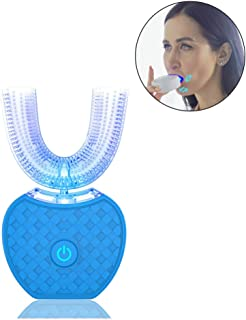 IPO 2代目 電動歯ブラシ U型 全自動 電動 音波 3D 口 クリーナー 歯 ブラシ ホワイトニング 3モード ワイヤレス充電 V型清潔 ナノブルーレイ美白 赤外線歯ぐきケア 全身丸い水洗OK ブラシヘッド交換だけで全家族用 4色展開