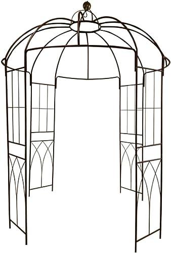 Outour® Tonnelle en fer en forme de cage à oiseaux, support pour plantes et fleurs grimpantes, jardin et e...